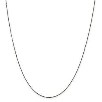 Sterling Silver Ruthenium-plated .75mm Twisted Tight Wheat Chain