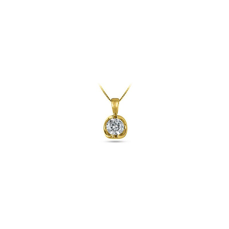 BB Impex 14K YG Diamond 'Moon Shine' Pendant TDW 0.50 Cts - Mounting