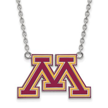 Sterling Silver University of Minnesota NCAA Necklace