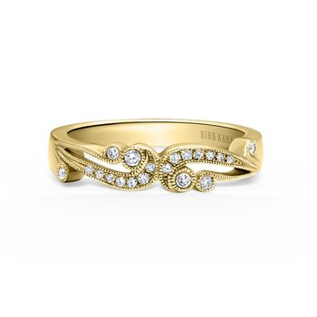 Artistic Waves Diamond Wedding Band