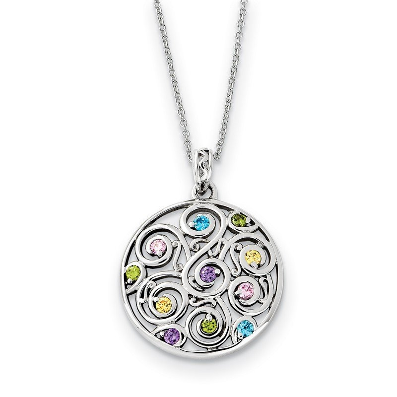 Lester Martin Online Collection Sterling Silver CZ Kaleidoscope Of Wishes 18in Necklace