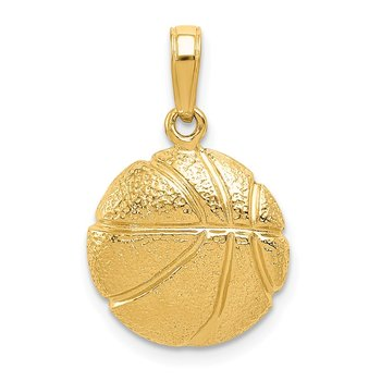 14k Basketball Pendant