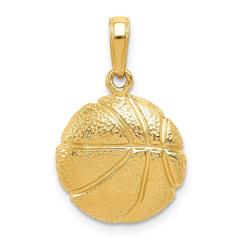 Quality Gold 14k Basketball Pendant