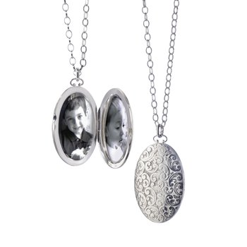 "2"" Floral Patterned Locket"