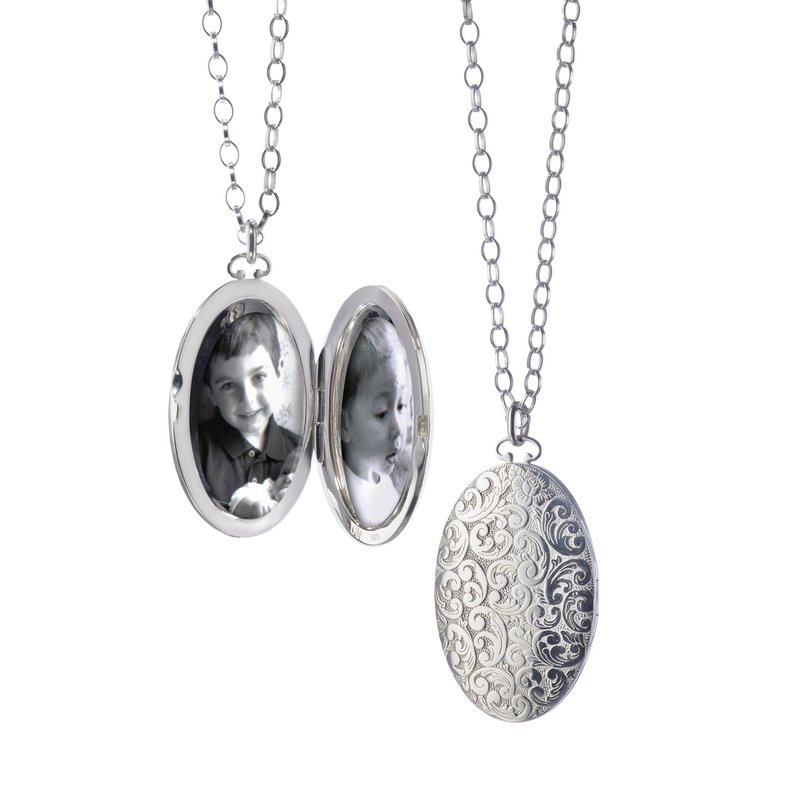"Monica Rich-Kosann 2"" Floral Patterned Locket"