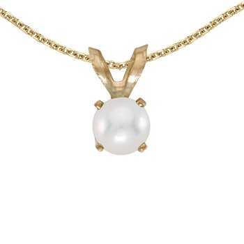 14k Yellow Gold Freshwater Cultured Pearl Pendant