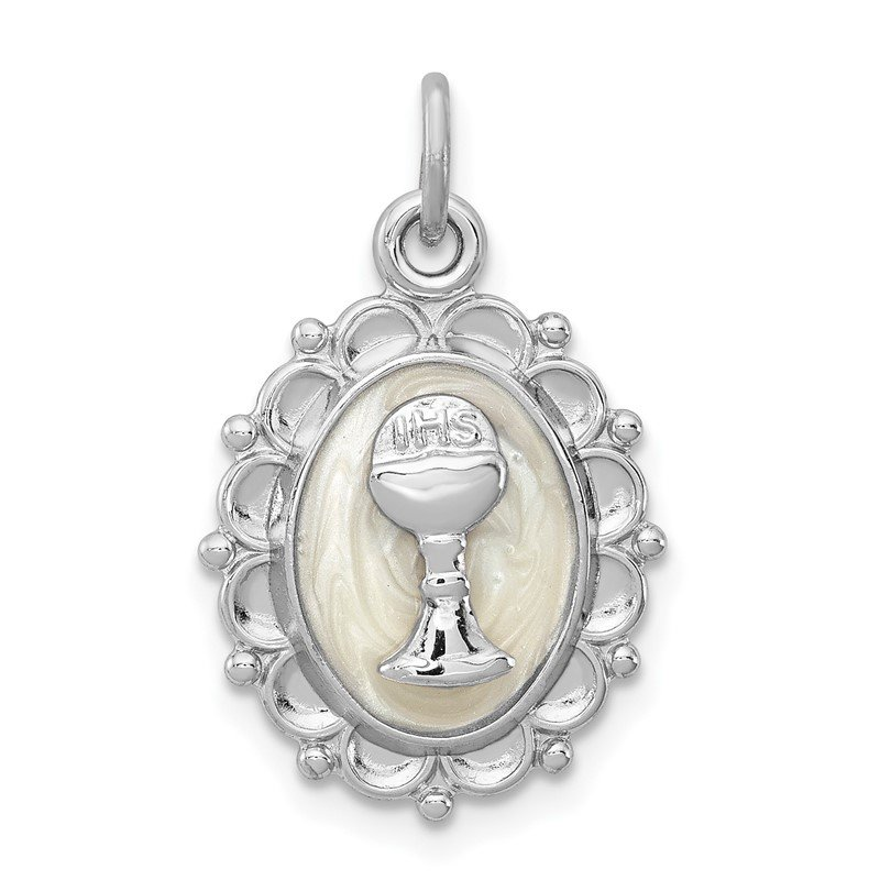 Quality Gold Sterling Silver Rhodium-plated Holy Communion Charm