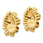 Quality Gold 14k Polished Floral Earring Jackets