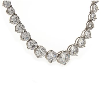 GRADUATED BRILLIANT CUT DIAMOND NECKLACE 26.13 CTS