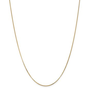14k .9mm Curb Pendant Chain
