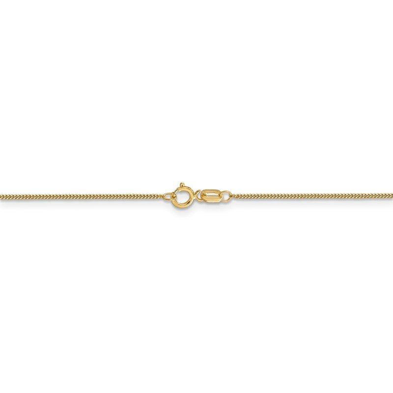 Quality Gold 14k .9mm Curb Pendant Chain