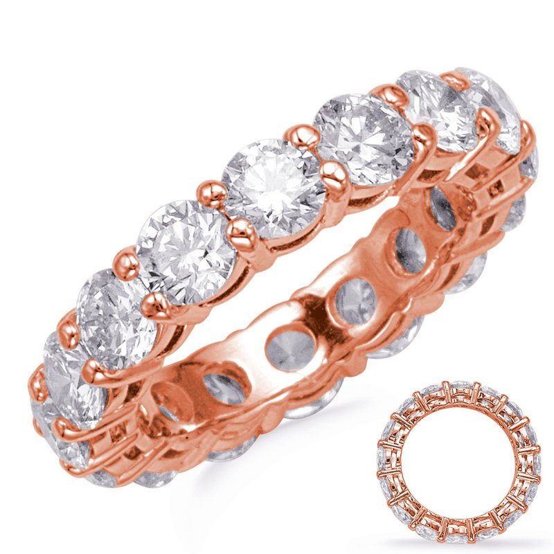 S. Kashi & Sons Bridal Rose Gold Shared Prong Eternity Band