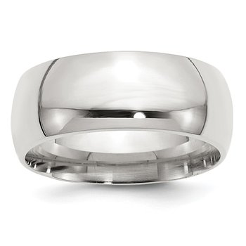 Sterling Silver 9mm Comfort Fit Band