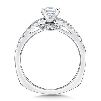 Diamond Engagement Ring Mounting in 14K White Gold (.26 ct. tw.)
