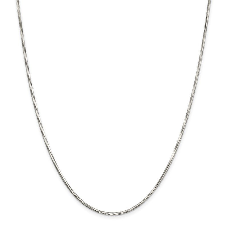 Quality Gold Sterling Silver 2mm Diamond-cut Snake Chain