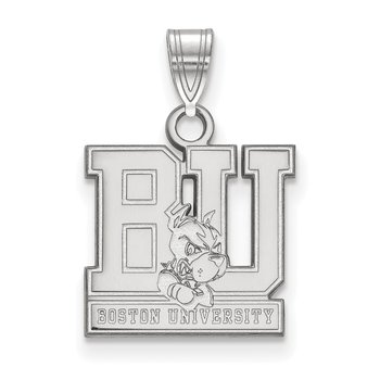 Sterling Silver Boston University NCAA Pendant