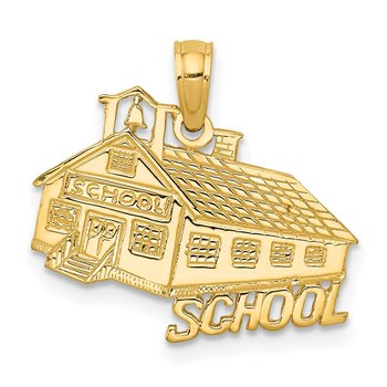 14K School House Pendant