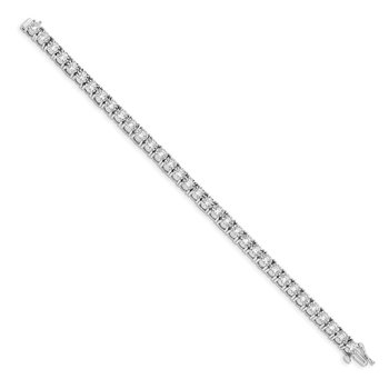 14k White Gold Illusion Setting Diamond Bracelet