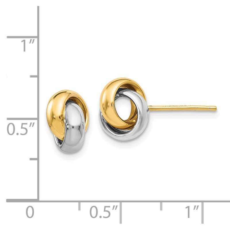 Leslie's Leslie's 14K Two-tone Polished Post Earrings