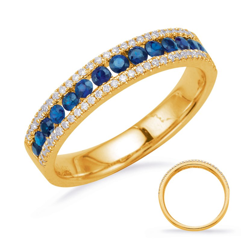S. Kashi  & Sons Yellow Gold Sapphire & Diamond Ring