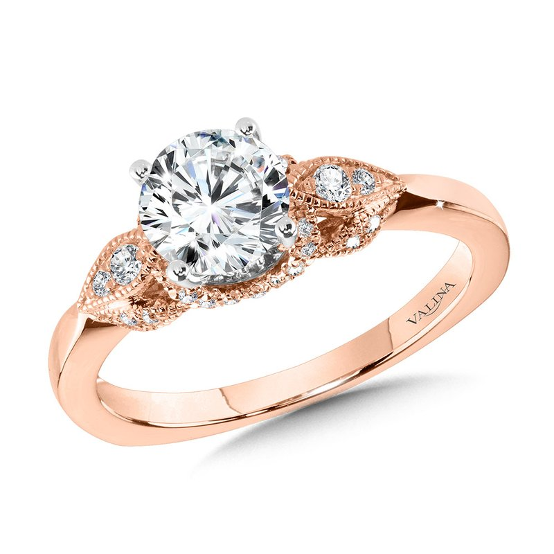 Valina Vintage Milgrain Diamond Engagement Ring