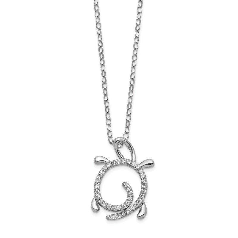 Cheryl M Cheryl M SS CZ Turtle Necklace