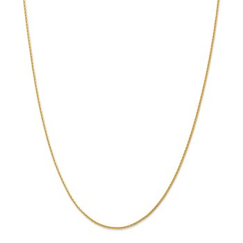 14K 1.5mm Parisian Diamond-cut Wheat Chain Anklet