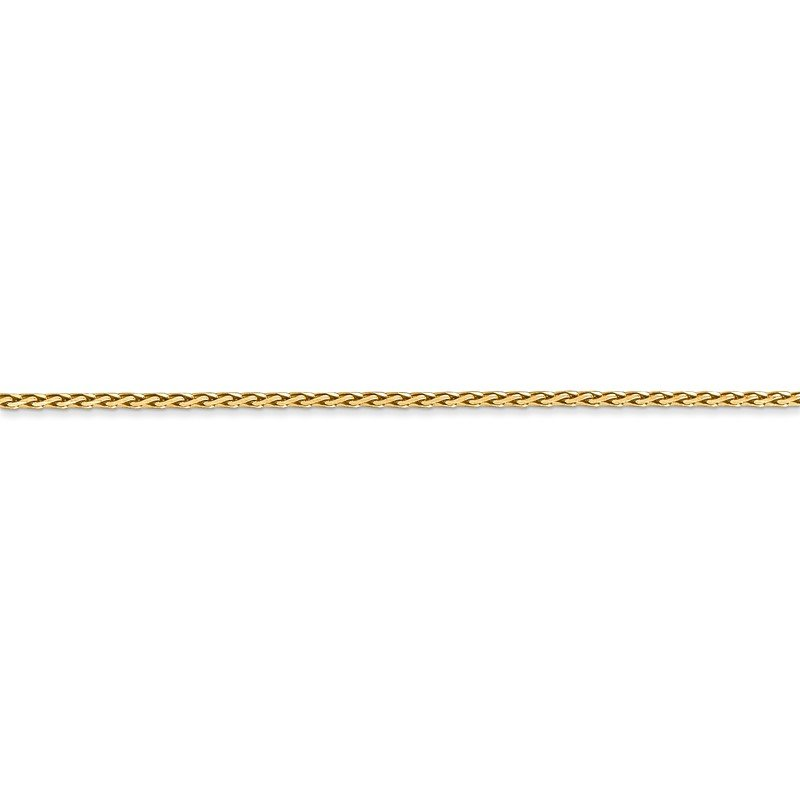 Quality Gold 14K 1.5mm D/C Parisian Wheat Chain Anklet
