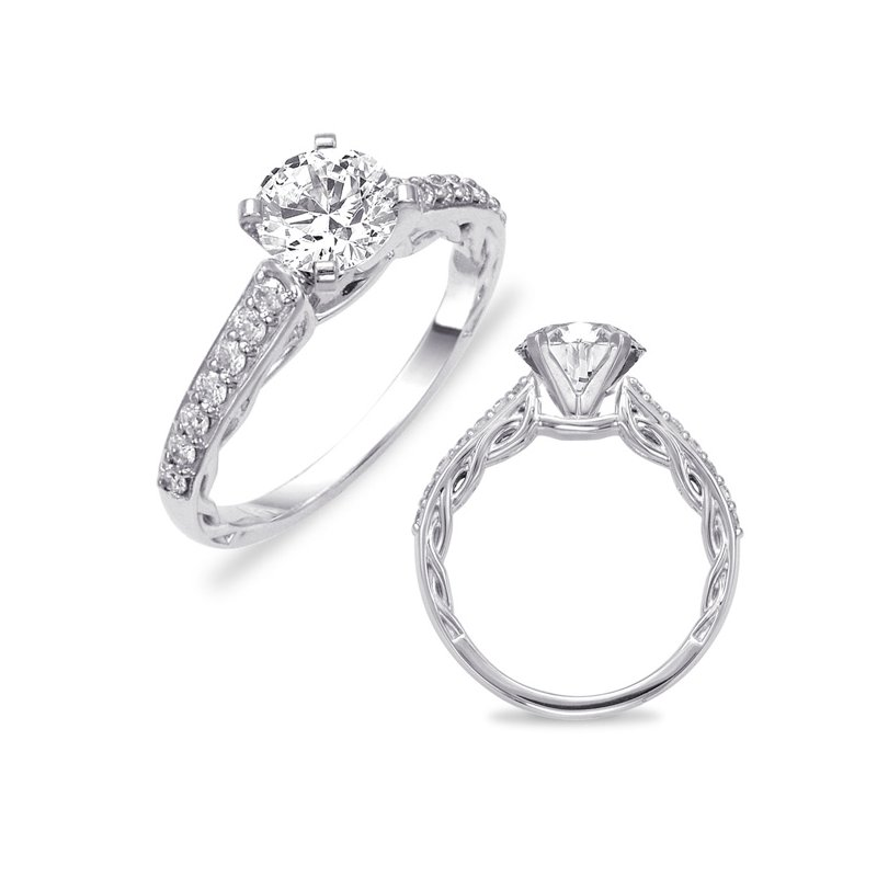 S. Kashi & Sons Bridal Platinum SemI Mounting