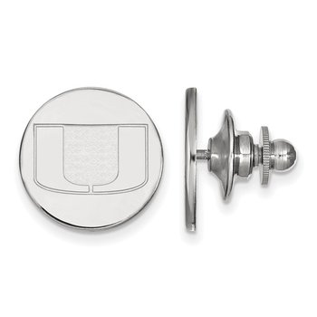 Sterling Silver University of Miami NCAA Lapel Pin