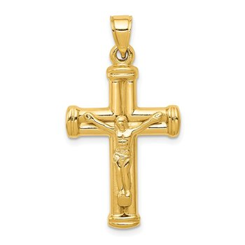 14K Reversible Crucifix Pendant