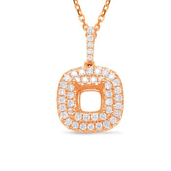 Diamond Pendant 0.50ct Cushion Center