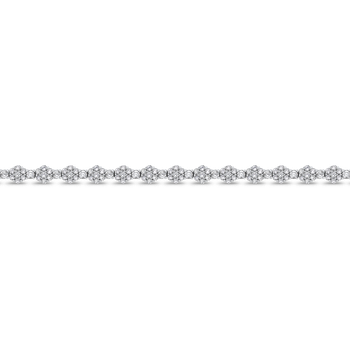 4.65 ct Round White Diamond 14K White Gold Tennis Bracelet