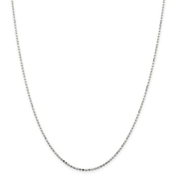 Sterling Silver 1.5mm Fancy Beaded Chain
