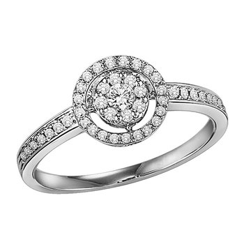 14K Diamond Ring 1/4 ctw Complete