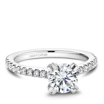 Noam Carver Modern Engagement Ring B002-01A