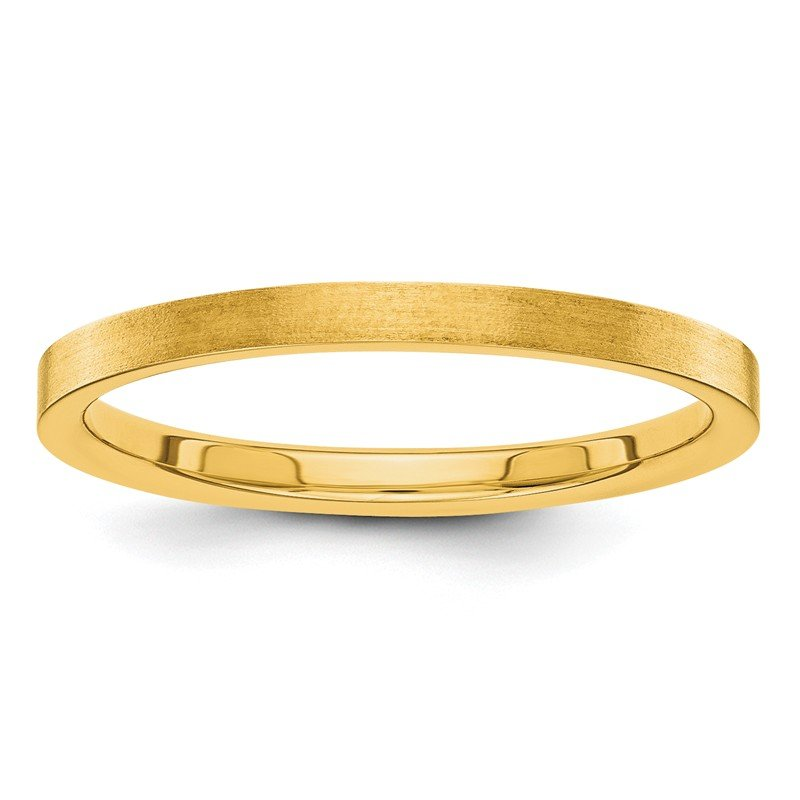 Quality Gold 14k 2mm Flat Satin Band