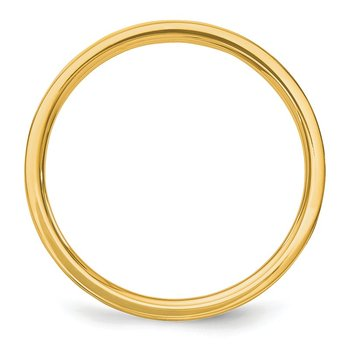 14k 2mm Flat Satin Band