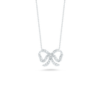 Roberto Coin Bow Pendant With Diamonds
