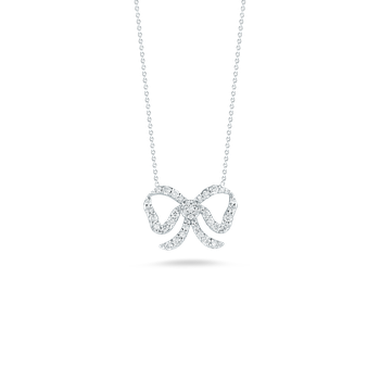 Bow Pendant With Diamonds