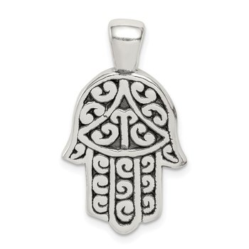 Sterling Silver Antiqued Hasma Pendant