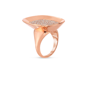 18KT GOLD LARGE RING WITH DIAMONDS