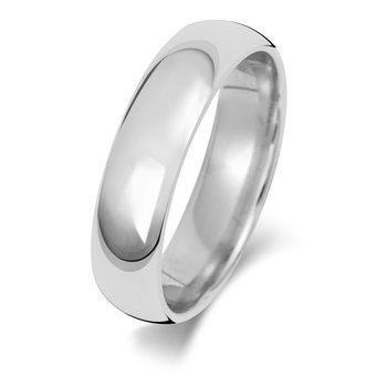 Platinum 5mm Traditional Court Wedding Ring
