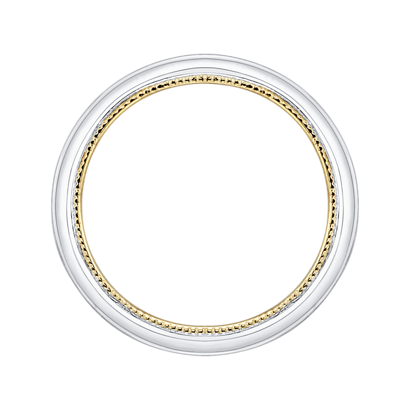 Promezza 14K Two-Tone Gold Plain Wedding Band