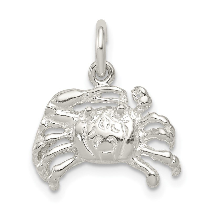 Quality Gold Sterling Silver Crab Charm
