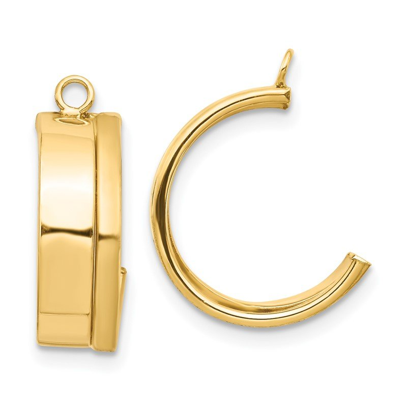Quality Gold 14K Dangle Earring Jacket