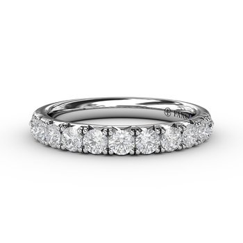 3/4ct  French Pave Set Anniversary Band