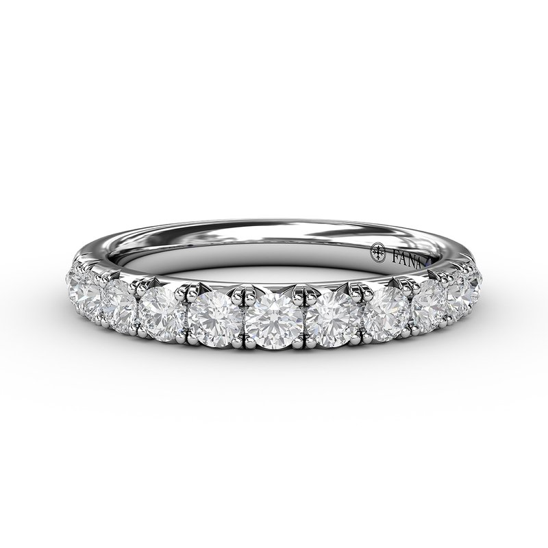 Fana 3/4ct  French Pave Set Anniversary Band