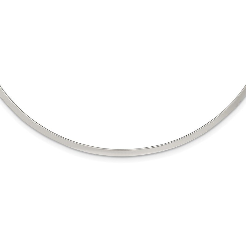 Quality Gold Sterling Silver Polished 3mm Neck Collar