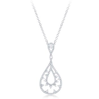 White Gold Diamond Pendant